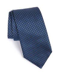 BOSS - Blue Dot Silk Tie for Men - Lyst