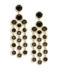 kate spade new york | Black Subtle Sparkles Chandelier Earrings | Lyst