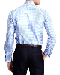 Thomas Pink - Blue Slim-fit Double-cuff Evening Shirt - For Men for Men - Lyst