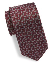 Vince Camuto - Red Patterned Silk Tie for Men - Lyst