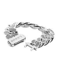 Lagos | Metallic Caviar Silver Curb Chain Bracelet | Lyst