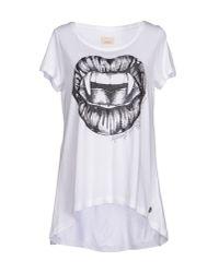 Maison Espin - White T-Shirt - Lyst