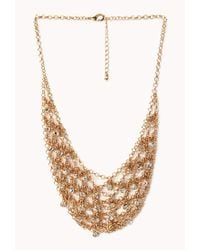Forever 21 | Metallic Elegant Rhinestoned Bib Necklace | Lyst