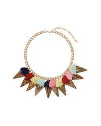 TOPSHOP Multicolor Ice Cream Cone Necklace