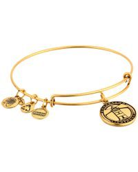 ALEX AND ANI | Metallic Edgartown Lighthouse Charm Bangle | Lyst
