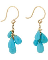 Ten Thousand Things - Blue Turquoise & Gold Drop Earrings - Lyst