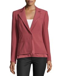 ESCADA - Purple Long-sleeve Layered-hem Blazer - Lyst