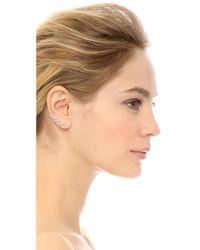 Noir Jewelry | Black Cooper Earrings - Rhodium/clear | Lyst