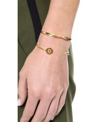 Tai | Metallic Twist Bracelet - Gold | Lyst