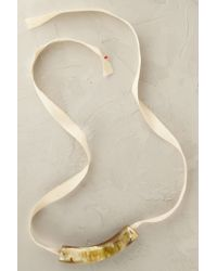 Anthropologie - Natural Horn Ribbon Necklace - Lyst