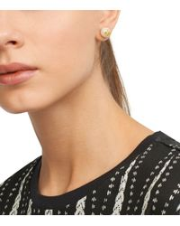 Tory Burch - White Evie Pearl Stud Earring - Lyst