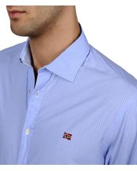 Napapijri | Blue Long Sleeve Shirt for Men | Lyst