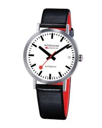 Mondaine | Black 'classic' Automatic Leather Strap Watch | Lyst