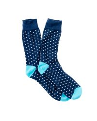 J.Crew | Blue Corgi Lightweight Pattern Socks for Men | Lyst