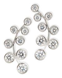 Rina Limor - Metallic 18k White Gold & Diamond Climber Earrings - Lyst