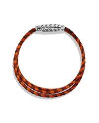 David Yurman - Brown Chevron Triplewrap Bracelet - Lyst
