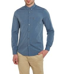 Ben Sherman | Blue Plain End On End Shirt for Men | Lyst