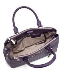 MICHAEL Michael Kors | Purple Sutton Leather Satchel Bag | Lyst