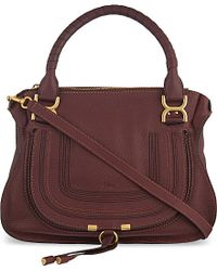 Chloé | Purple Marcie Medium Leather Tote | Lyst
