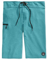 Volcom | Blue Static Mod Board Shorts for Men | Lyst