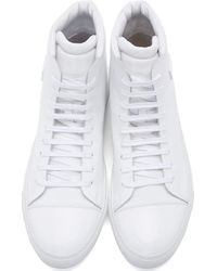 Acne Studios - White Leather Adrian High_top Sneakers for Men - Lyst