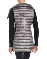 Calvin Klein - Gray Asymmetrical-zip Puffer Jacket - Lyst