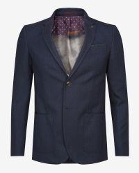 Ted Baker | Blue Herringbone Jacket for Men | Lyst