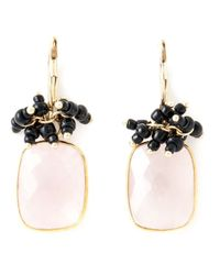 Isabel Marant | Pink Square Stone Earrings | Lyst