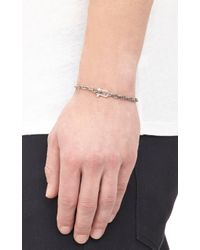 Miansai - Metallic Silver Chain-Link Bracelet With Anchor Shackle for Men - Lyst