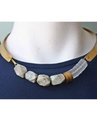 Maslo Jewelry | Metallic Bandero Necklace | Lyst