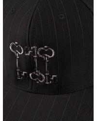 Dolce & Gabbana - Black Pinstripe Baseball Cap for Men - Lyst
