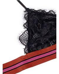 LoveStories - Black 'darling' Eyelash Lace Triangle Bralette - Lyst
