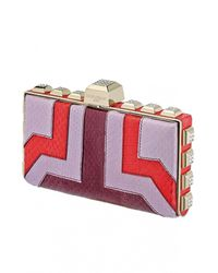 Azzaro | Multicolor Vendôme Calf Leather Clutch | Lyst