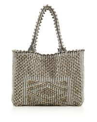 Antonello | Gray Liscia North South Tote | Lyst