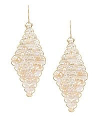 Kenneth Cole | Metallic Woven Drop Earrings | Lyst