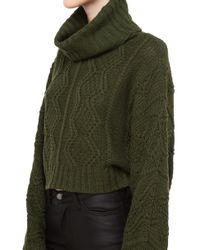 Rehab - Green Cozy Up Knit Sweater - Olive - Lyst