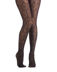 ModCloth   Black Where Theres A Frill Tights   Lyst