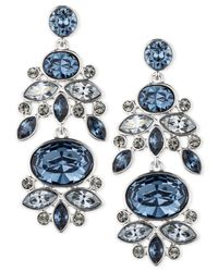 Givenchy - Blue Rhodium-Tone Drama Chandelier Drop Earrings - Lyst