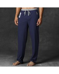 Polo Ralph Lauren - Blue Cotton Pajama Pant for Men - Lyst