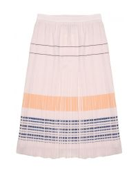 O'2nd - Pink Bobby Embroidered Pleated Skirt - Lyst