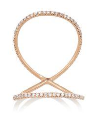 Anita Ko - Pink Double Eternity 18-Karat Rose Gold Diamond Ring - Lyst