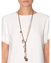 Alexander McQueen | Metallic Charms Layered Necklace | Lyst