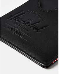Herschel Supply Co. - Supply Co. Charlie Leather Cardholder - Black for Men - Lyst