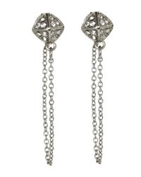 Rebecca Minkoff - Metallic Silver-Tone Chain Stud Earrings - Lyst