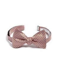 John W. Nordstrom | Orange Geometric Silk Bow Tie for Men | Lyst