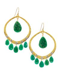 Alexis Bittar - Green Crystalstudded Amazonite Briolette Earrings - Lyst