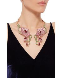 Wendy Yue - Green Symmetrical Floral Collar Necklace - Lyst