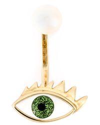 Delfina Delettrez | Green Eye Piercing Earring | Lyst