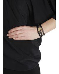 McQ   Black Swallow Leather Wrap Bracelet   Lyst