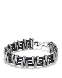 David Yurman | Metallic Cable Station Bracelet for Men | Lyst